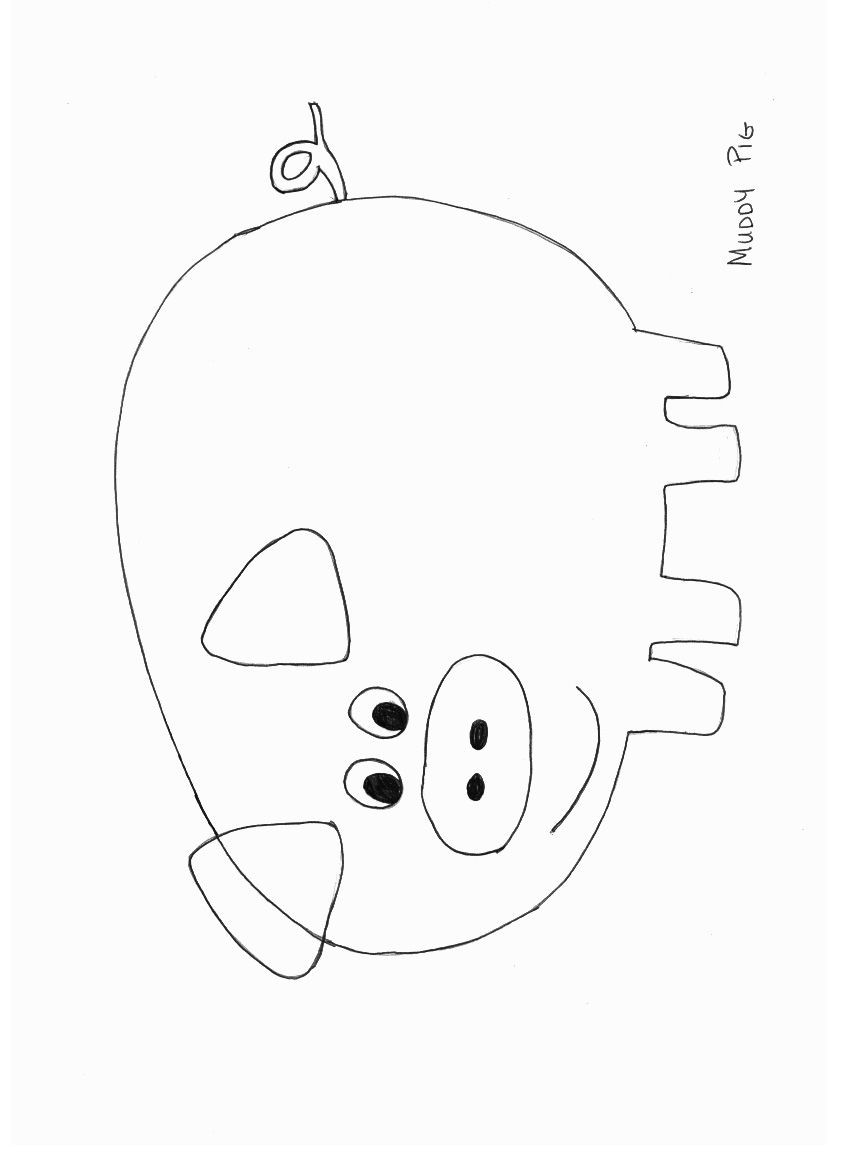 Preschool Coloring Sheets For The 3 Little Pigs Paper Plate Pig  Animals Crafts Print your Pig Craft Template at