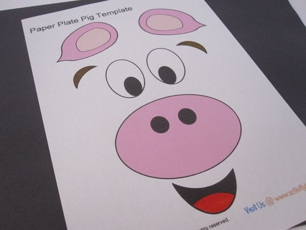 Preschool Coloring Sheets For The 3 Little Pigs Paper Plate Pig  Paper Plate Pig Craft Best Craft Example Pig Paper Plate