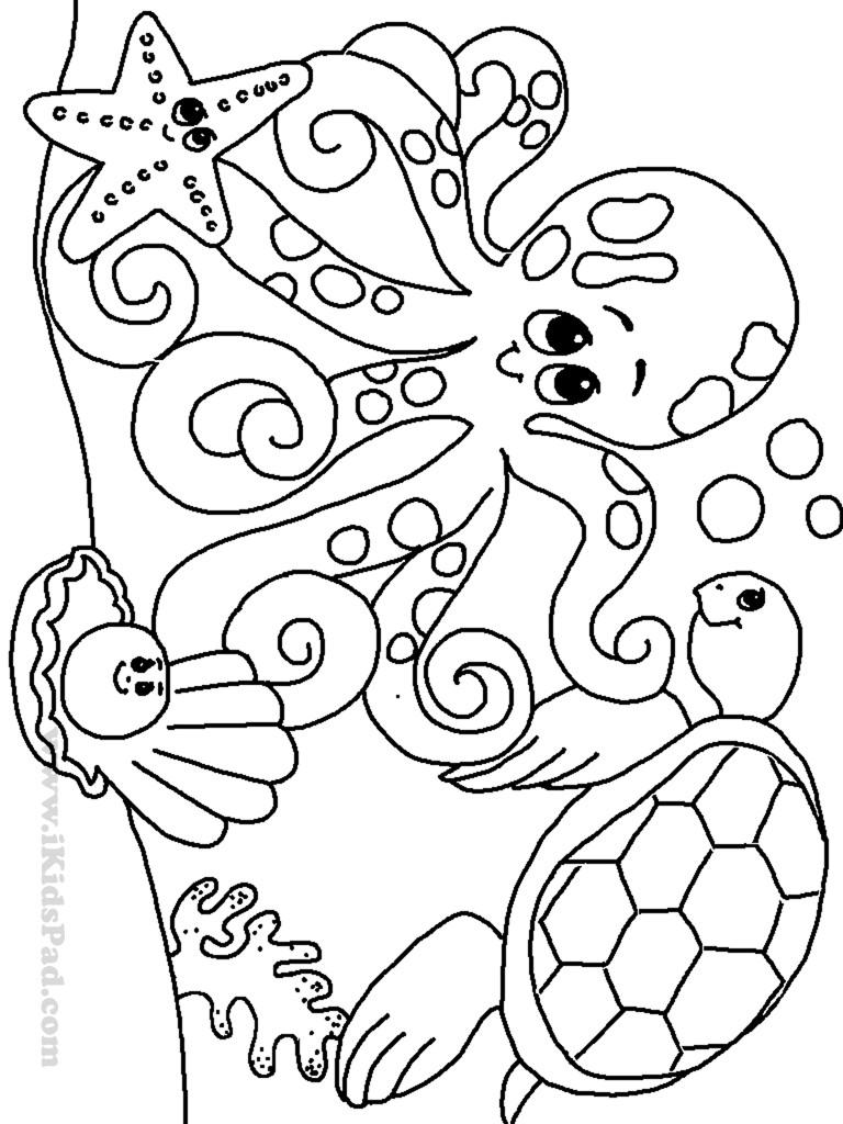 Preschool Coloring Sheets Ocean  Ocean Coloring Pages For Kindergarten Coloring Pages