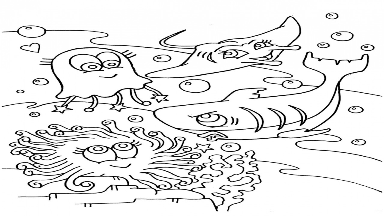 Preschool Coloring Sheets Ocean  Ocean Coloring Pages For Preschool grig3