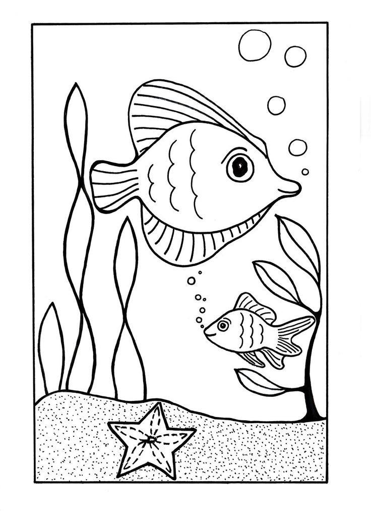Preschool Coloring Sheets Ocean  Free Preschool Ocean Coloring Pages
