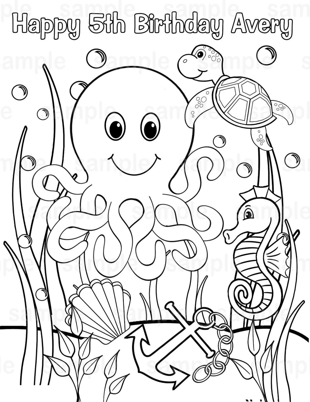 Preschool Coloring Sheets Ocean  Under The Sea Coloring Pages