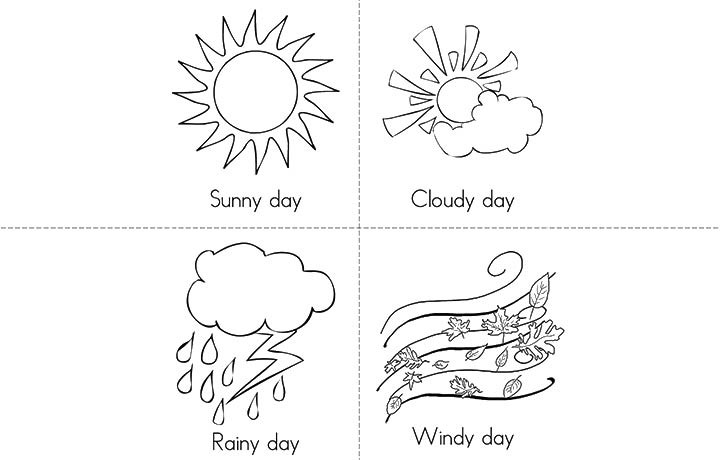 Preschool Coloring Sheets On Weather  rain coloring pages for preschoolers