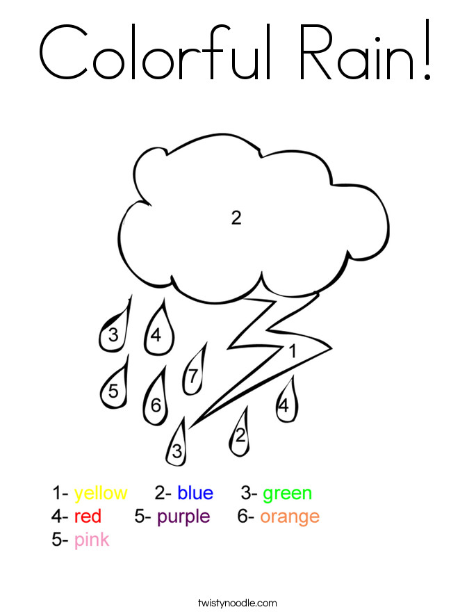 Preschool Coloring Sheets On Weather  Weather Coloring Pages Preschool Coloring Home