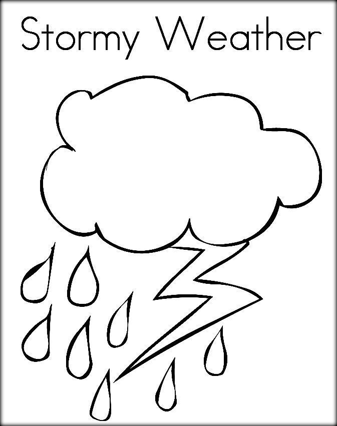 Preschool Coloring Sheets On Weather  Free Printable Weather Coloring For Preschool