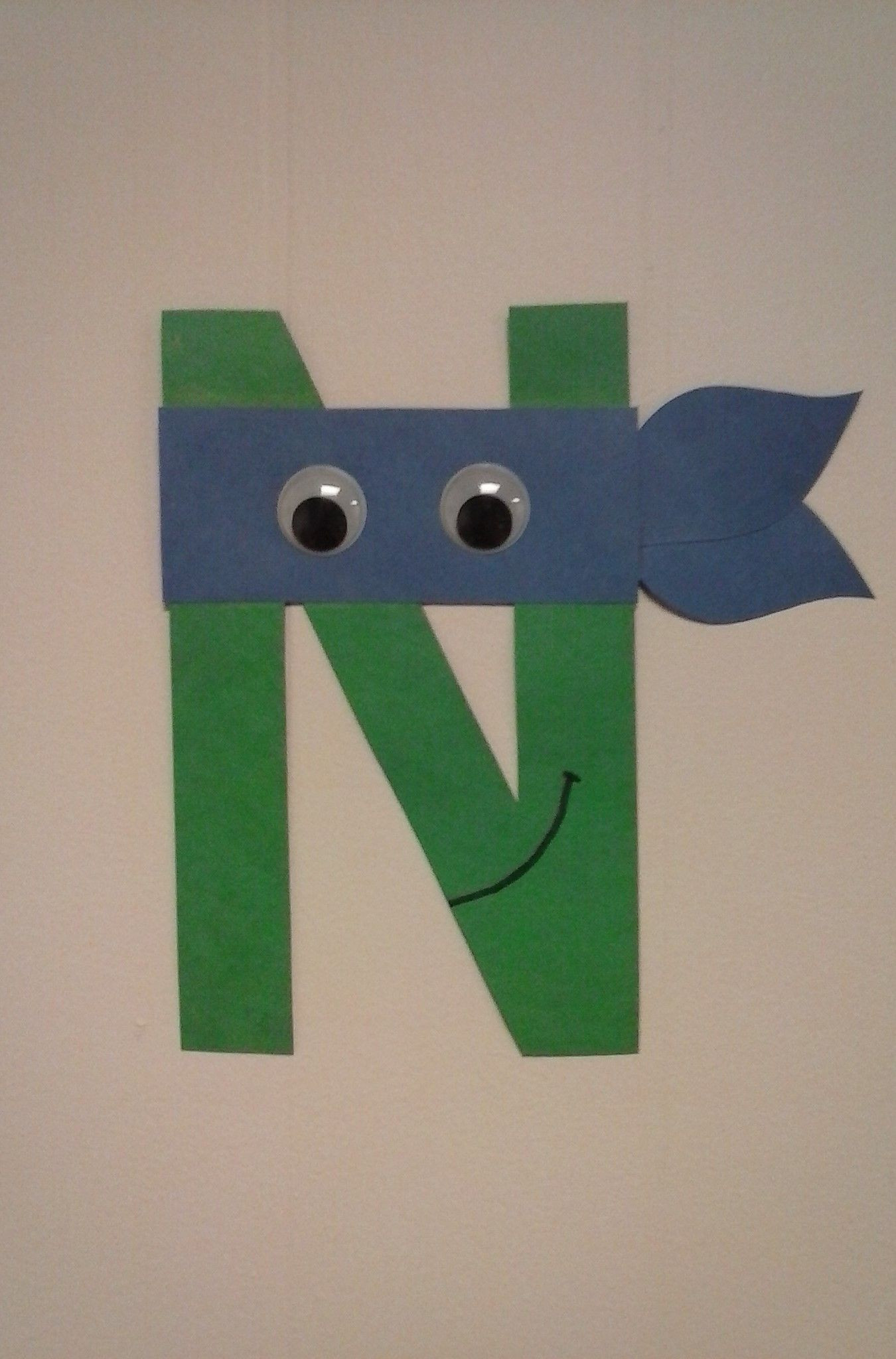 Preschoolers Craft Activities  Preschool letter N N is for Ninja Turtle