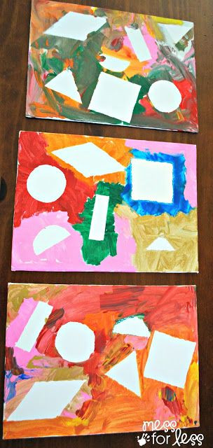 Preschoolers Craft Activities  paint resist with contact paper art activity and