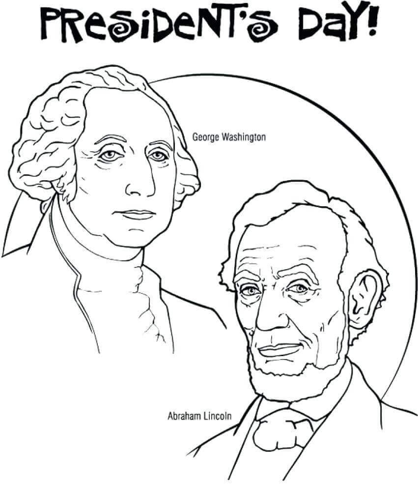 President Day Coloring Pages  Free Printable President's Day Coloring Pages