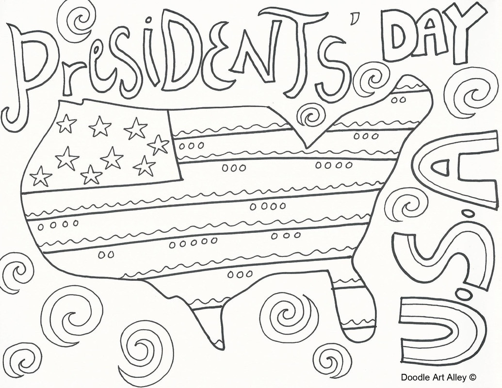 President Day Coloring Pages  Presidents Day Coloring Pages Doodle Art Alley