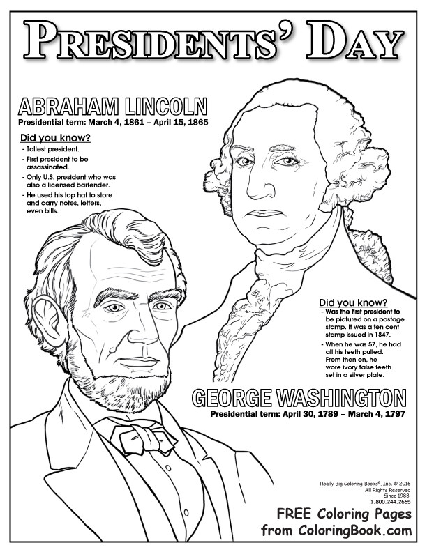 President Day Coloring Pages  Coloring Books
