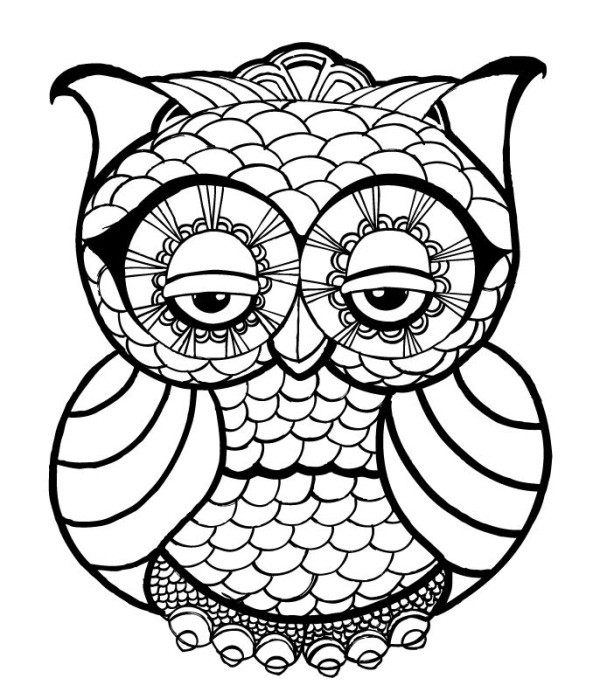 Best ideas about Pretty Coloring Pages For Adults . Save or Pin OWL Coloring Pages for Adults Free Detailed Owl Coloring Now.
