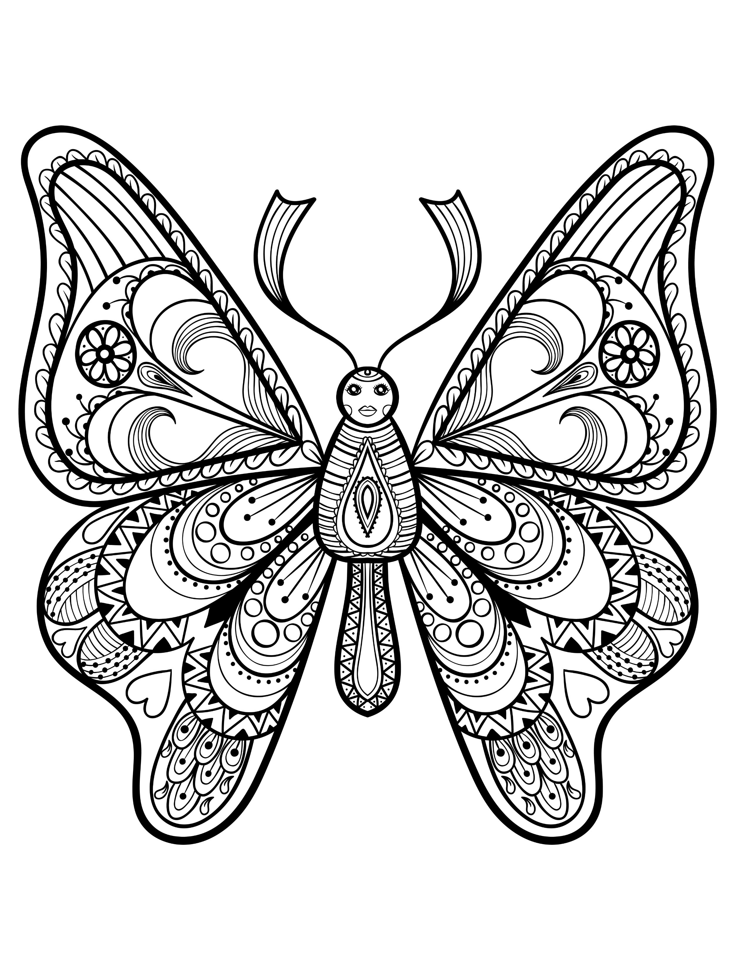 Best ideas about Pretty Coloring Pages For Adults . Save or Pin 23 Free Printable Insect & Animal Adult Coloring Pages Now.