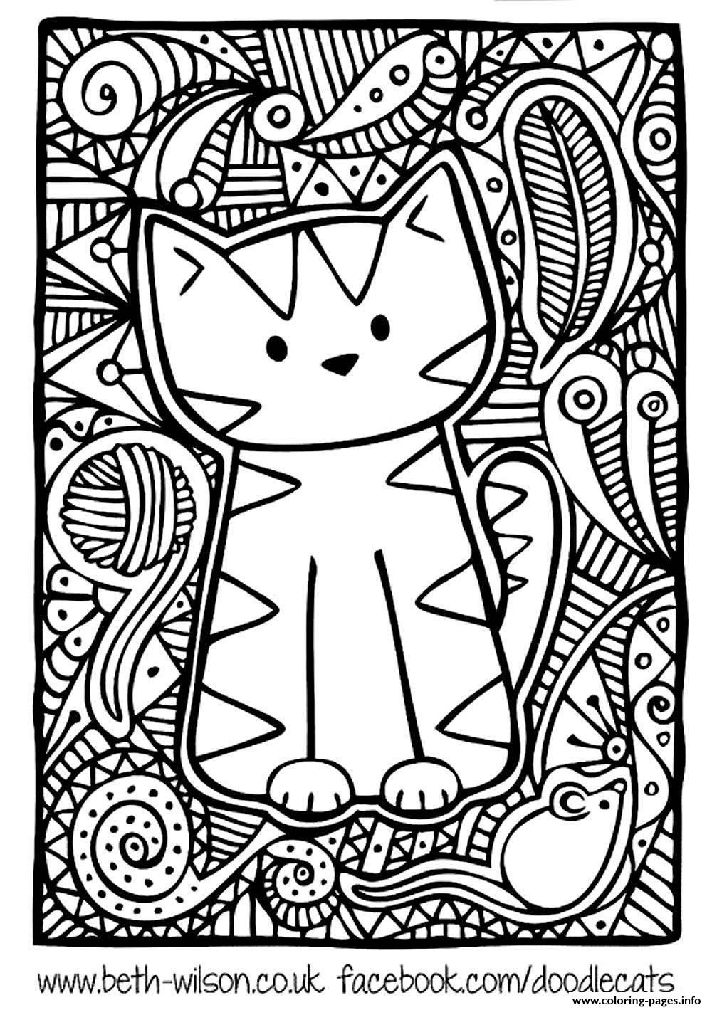 Best ideas about Pretty Coloring Pages For Adults . Save or Pin Adult Difficult Cute Cat Coloring Pages Printable Now.