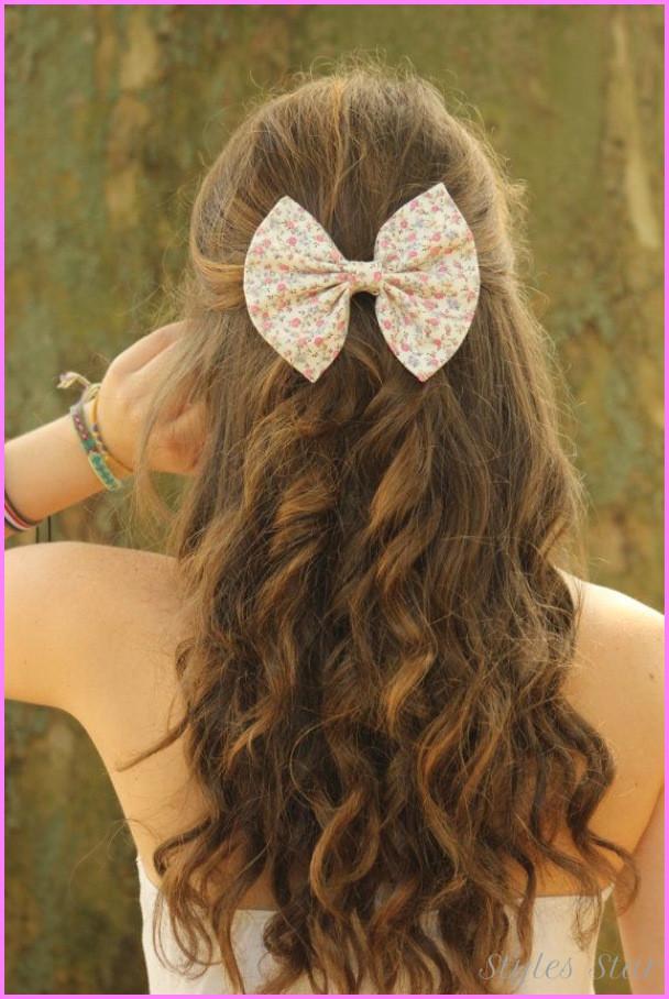 Pretty Easy Hairstyles  Cute hairstyles for long curly hair school StylesStar