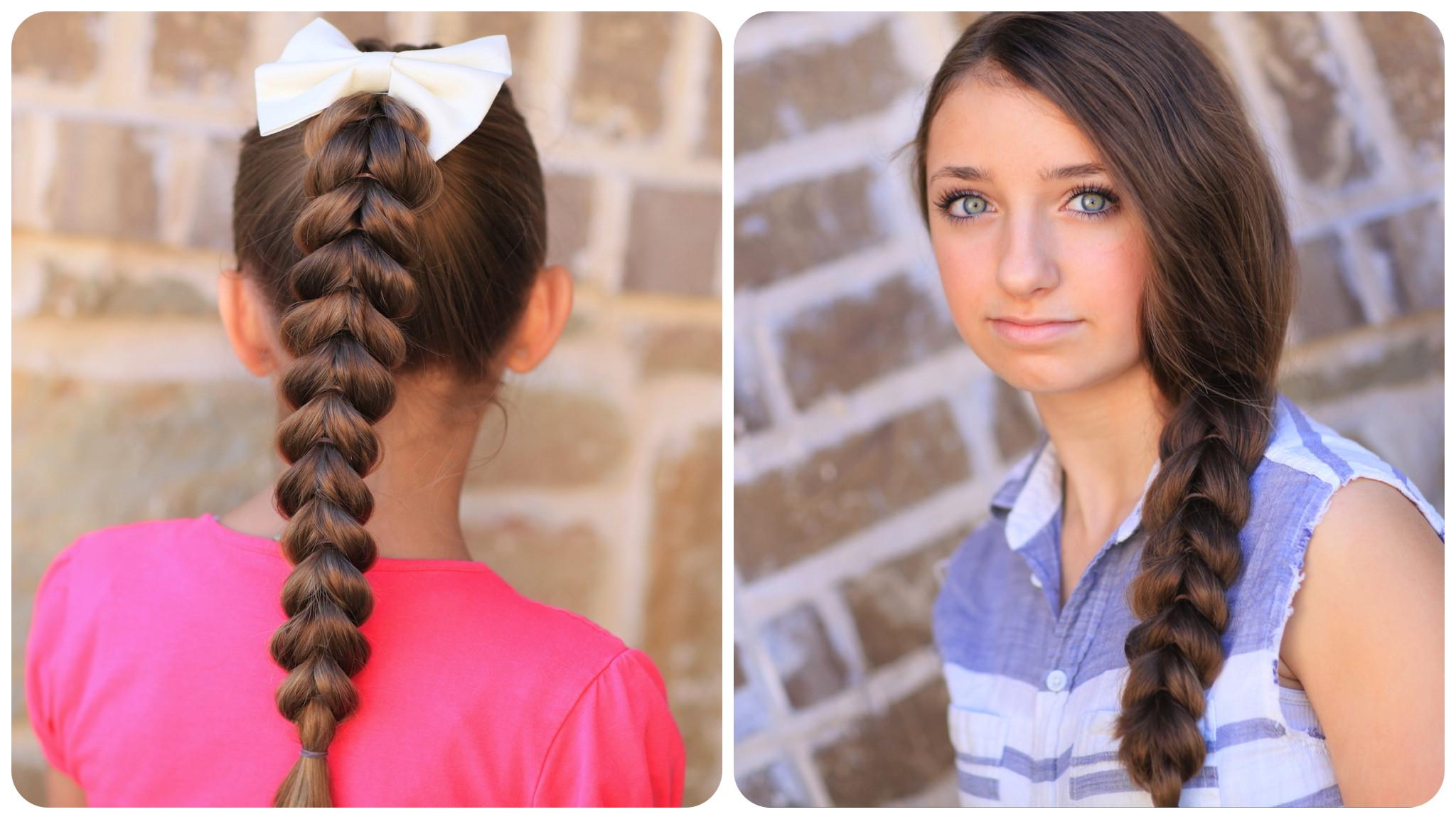 Pretty Easy Hairstyles  Pull Through Braid Easy Hairstyles