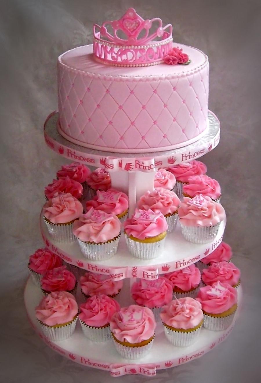 Princess 1st Birthday Cake  Madison s Princess Themed First Birthday Cupcake Tree