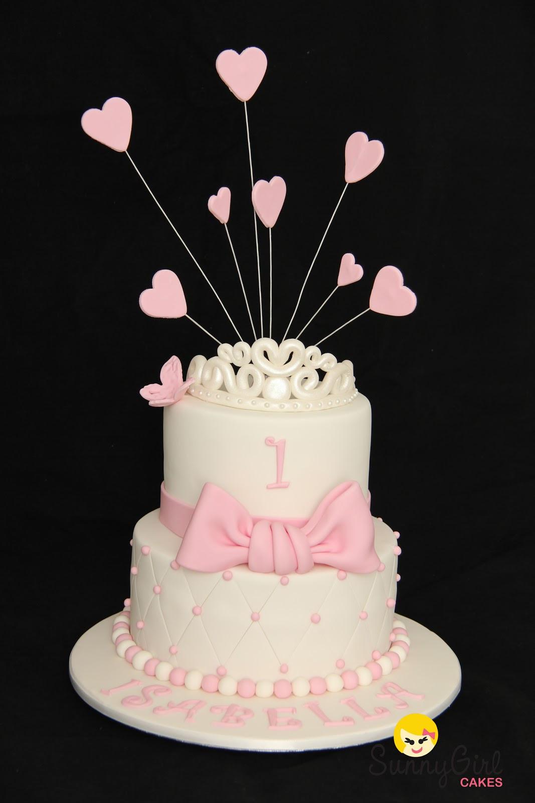 Princess 1st Birthday Cake  Princess Isabella First Birthday
