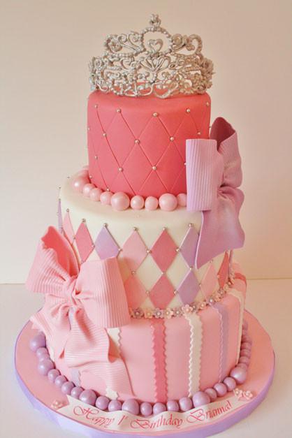 Princess 1st Birthday Cake  First Birthday Cakes New Jersey Princess Tiara Custom Cakes