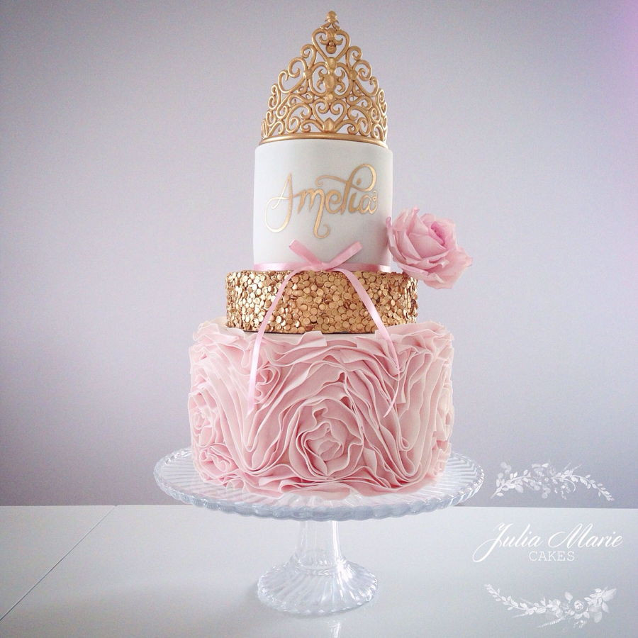 Princess 1st Birthday Cake  Princess First Birthday Cake CakeCentral