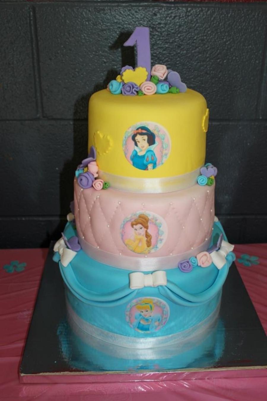 Princess 1st Birthday Cake  Disney Princess 1St Birthday Cake CakeCentral