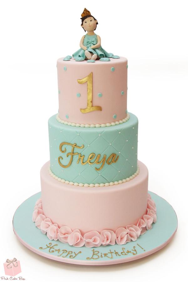 Princess 1st Birthday Cake  Pink Cake Box Denville NJ Wedding Cake