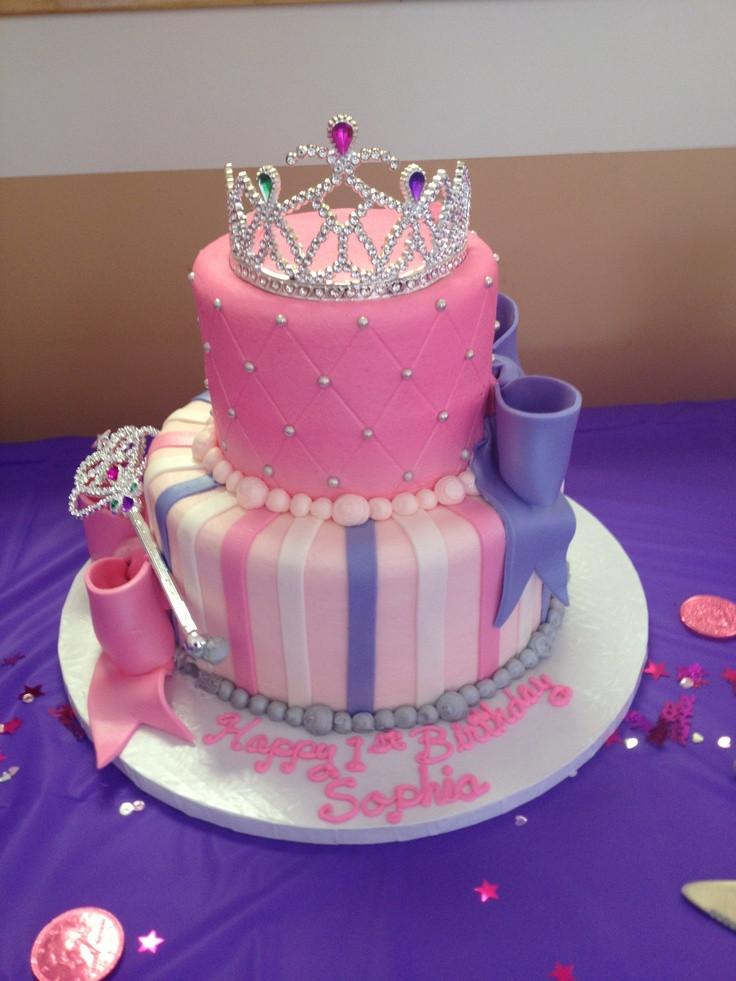 Princess 1st Birthday Cake  PRINCESS BIRTHDAY CAKE Fomanda Gasa