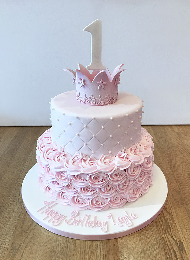 Princess 1st Birthday Cake  Home The Cakery Leamington Spa