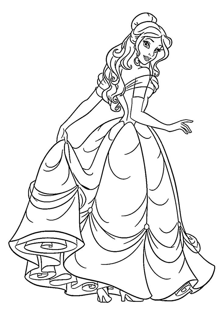 Princess Coloring Book  Princess Coloring Pages Best Coloring Pages For Kids