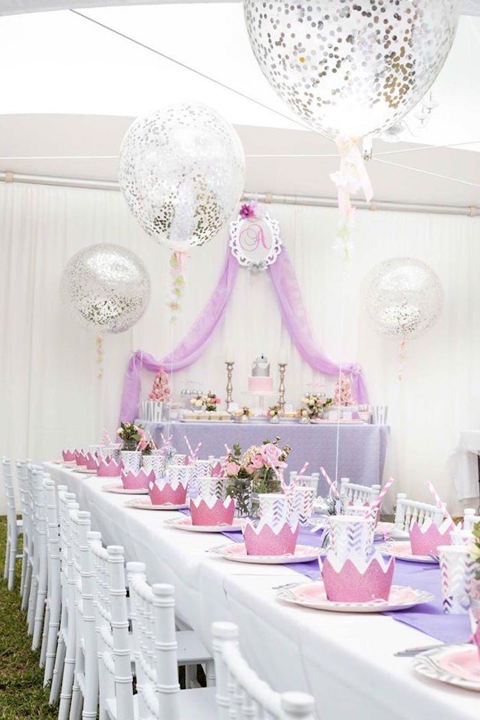 Best ideas about Princess Themed Birthday Party . Save or Pin Kara s Party Ideas Elegant Purple Princess Birthday Party Now.