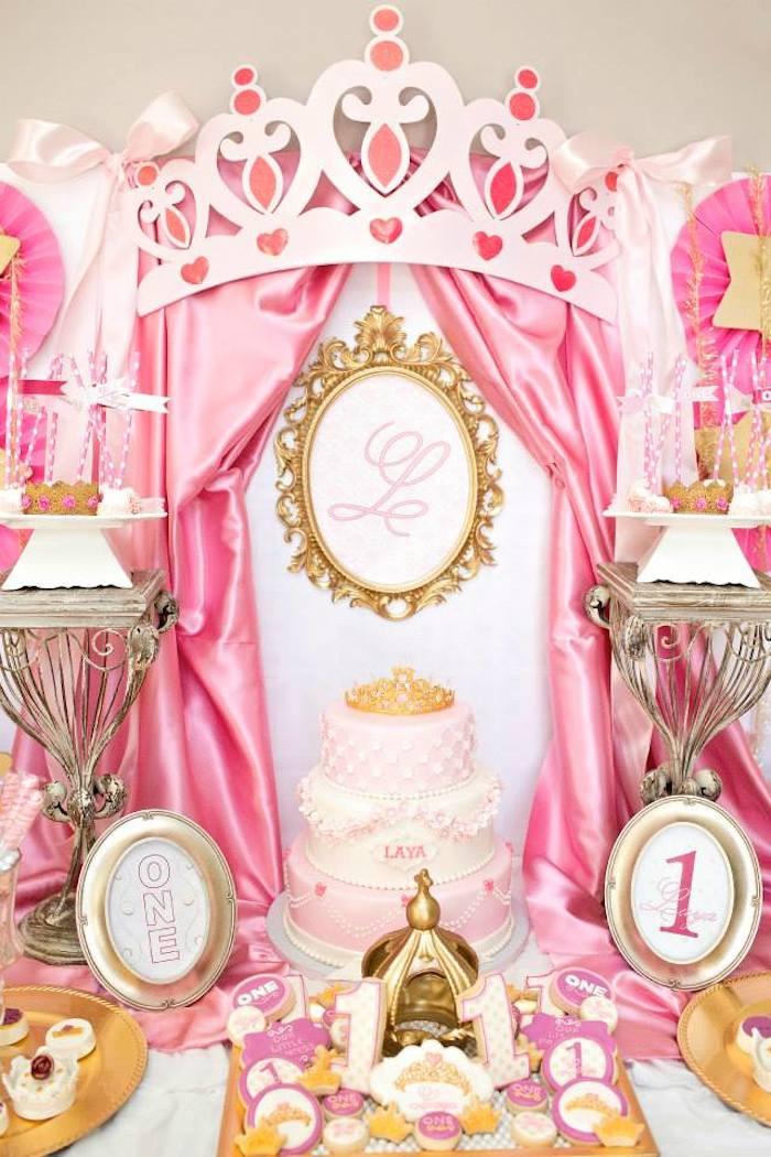Best ideas about Princess Themed Birthday Party . Save or Pin Kara s Party Ideas Royal Princess First Birthday Party Now.
