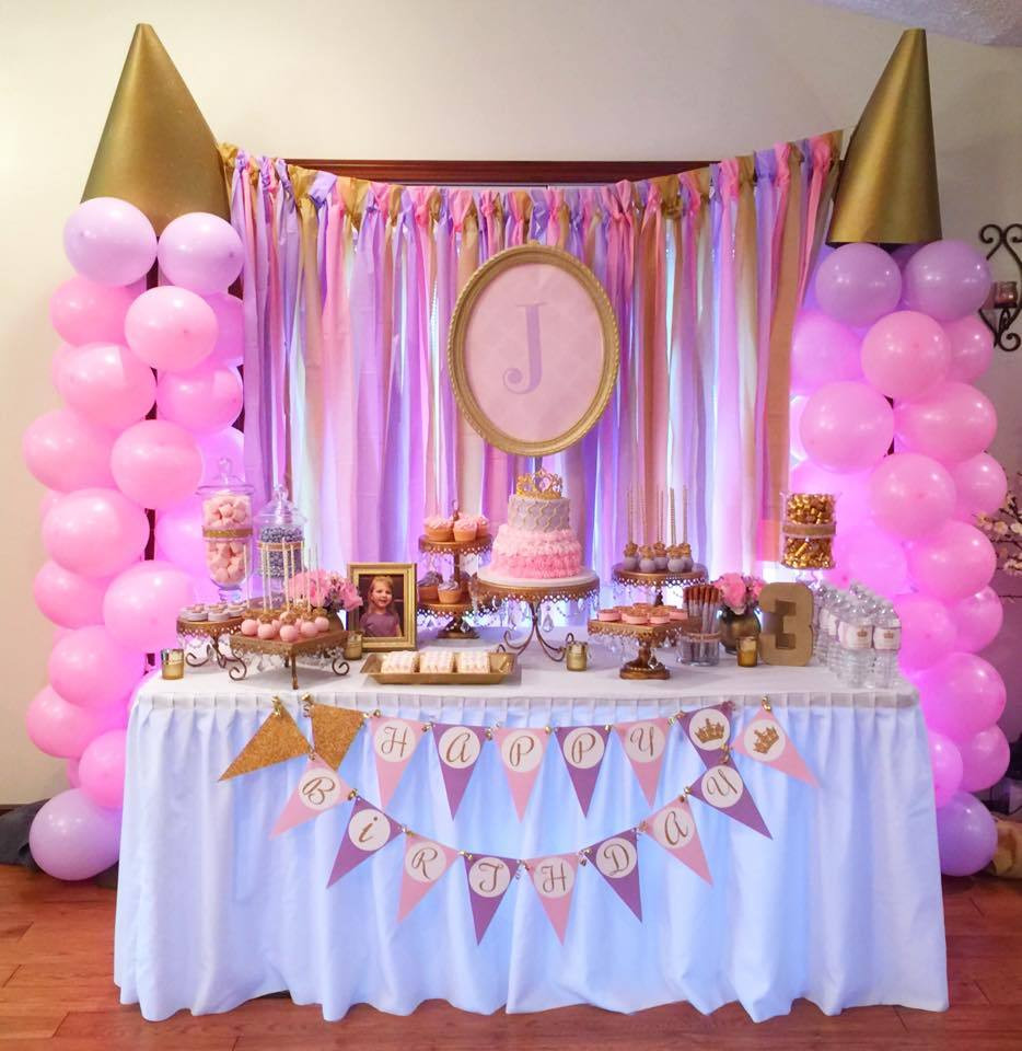 Best ideas about Princess Themed Birthday Party . Save or Pin Pink And Gold Princess Birthday Party — The Iced Sugar Cookie Now.