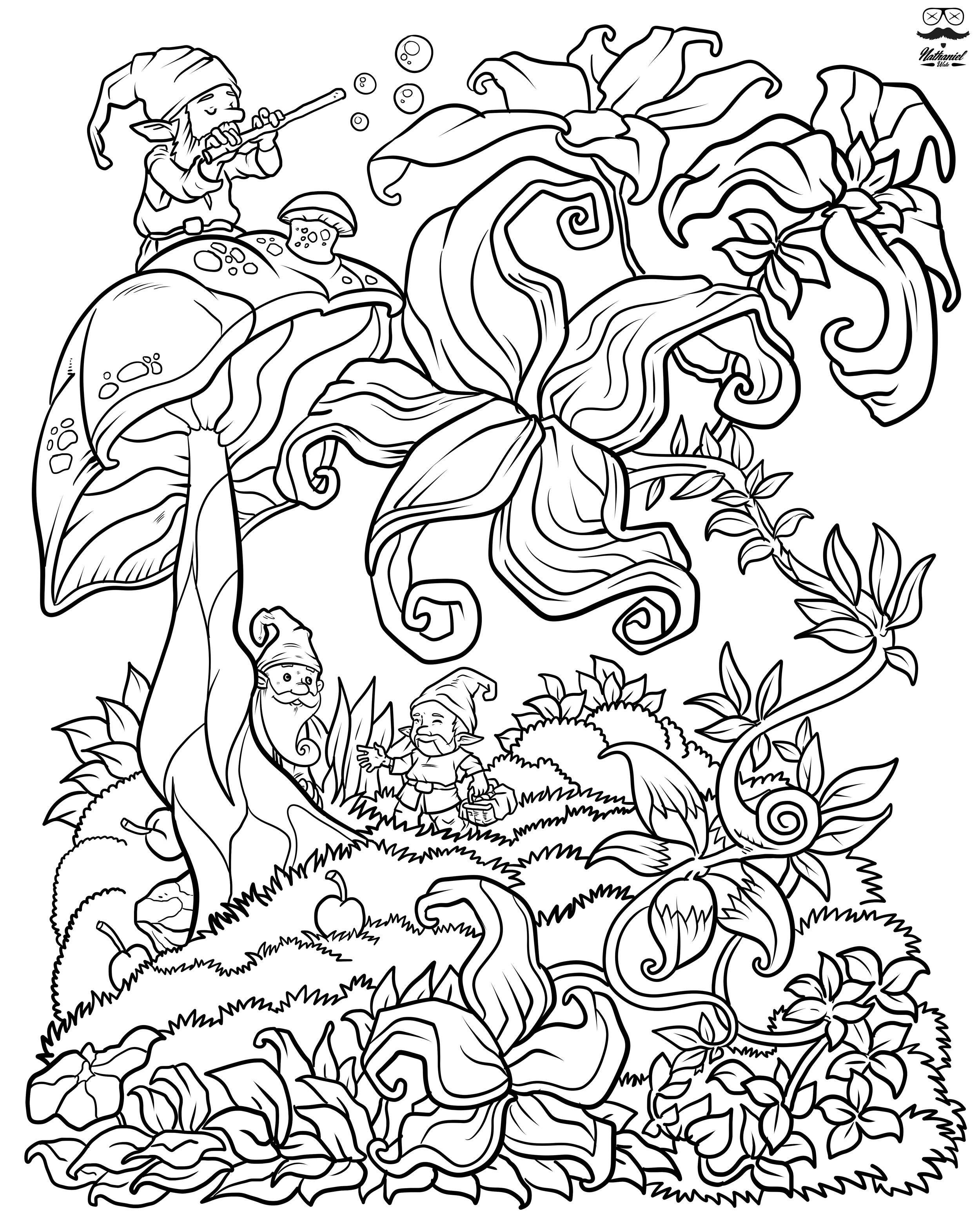 Printable Adult Coloring Books  Floral Fantasy Digital Version Adult Coloring Book