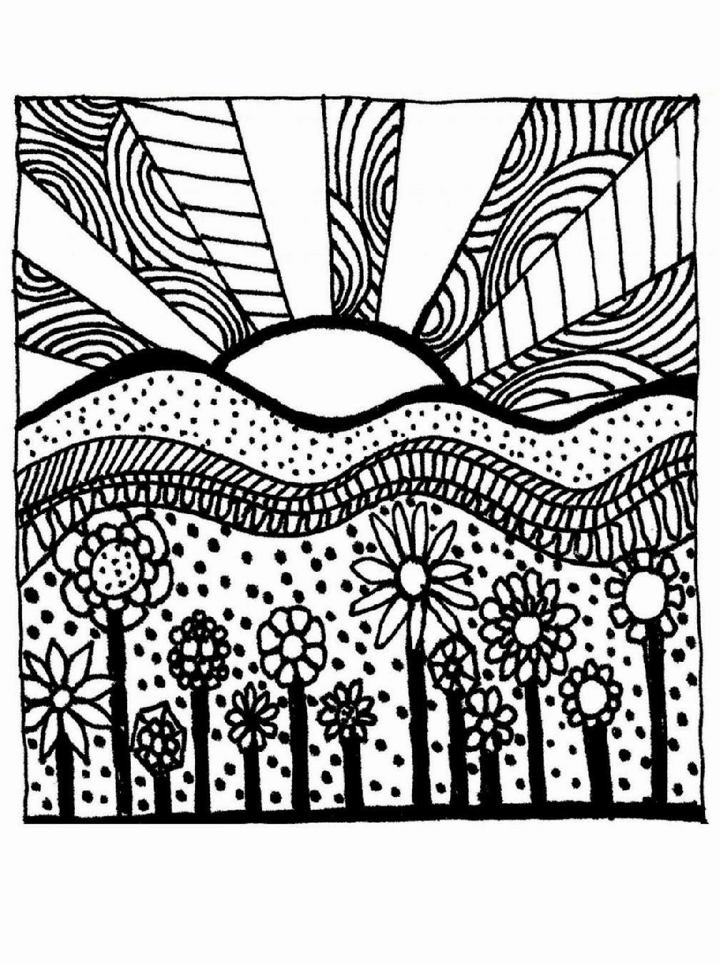 Printable Adult Coloring Books  Free Printable Abstract Coloring Pages For Adults Free