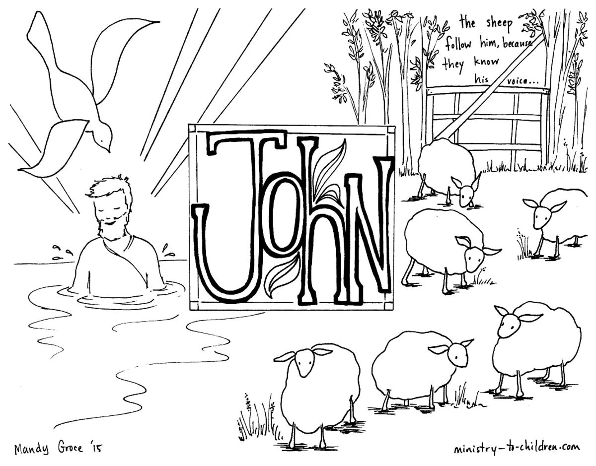 Printable Bible Coloring Pages For Kids Book Of John  Free Christian Coloring Pages for Kids Children and