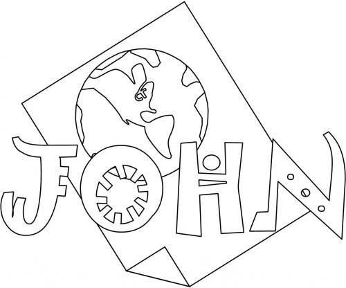 Printable Bible Coloring Pages For Kids Book Of John  Bible Coloring Pages John Books of the Bible