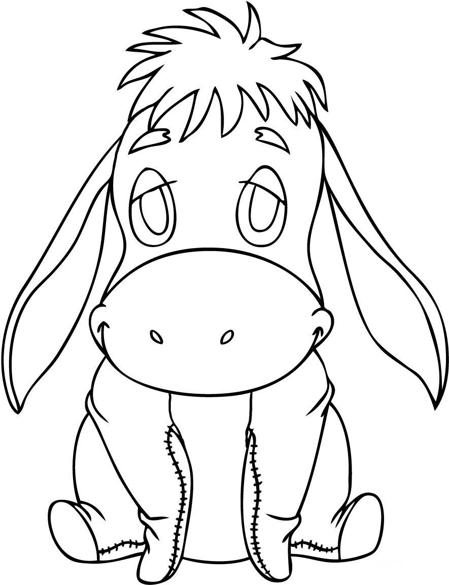 Printable Coloring Books For Toddlers  Free Printable Eeyore Coloring Pages For Kids