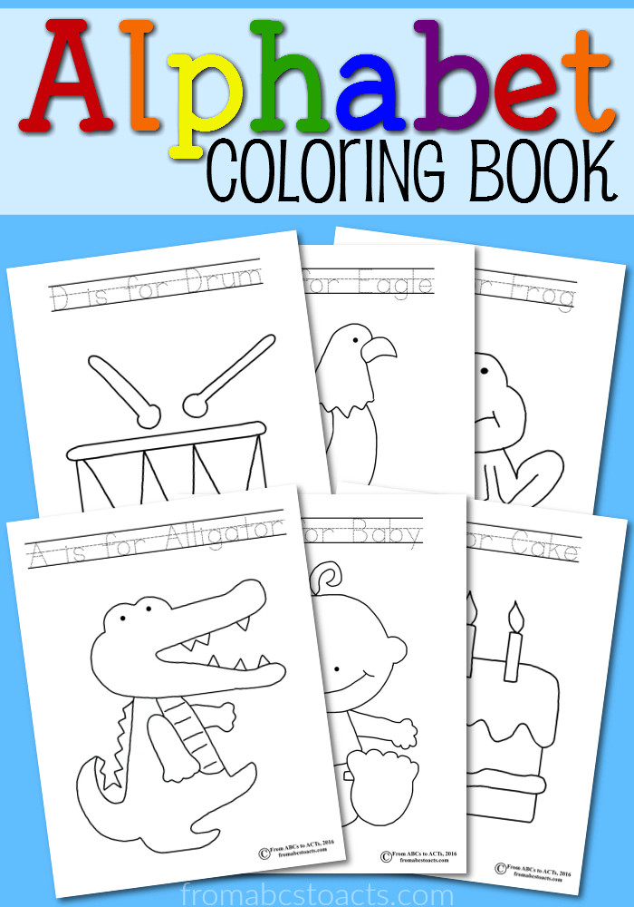 Printable Coloring Books For Toddlers  Printable Abc Book Pdf Printable Pages