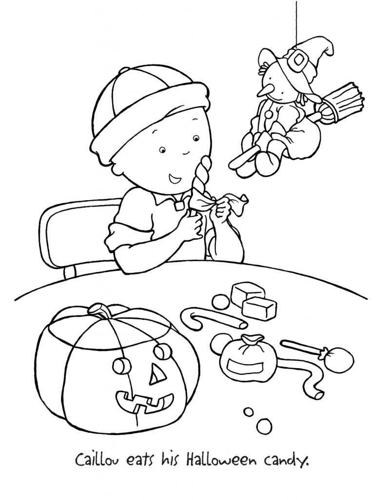 Printable Coloring Books For Toddlers  Free Printable Caillou Coloring Pages For Kids