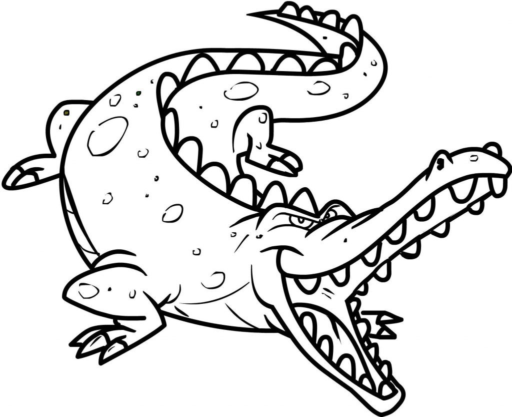 Printable Coloring Books For Toddlers  Free Printable Crocodile Coloring Pages For Kids