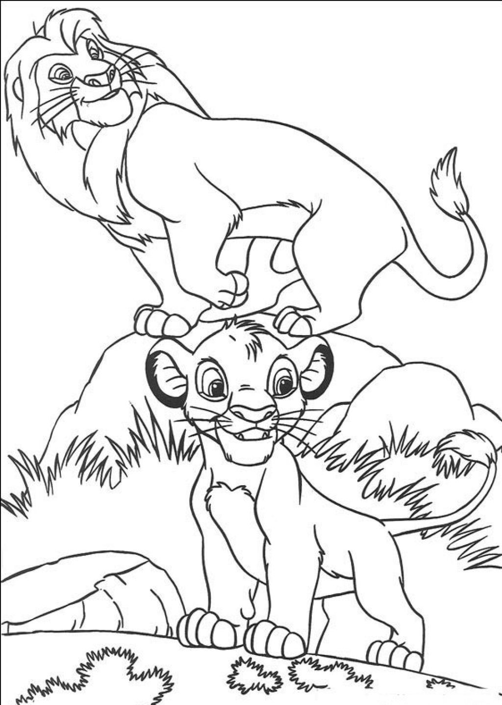 Printable Coloring Books For Toddlers  Free Printable Simba Coloring Pages For Kids