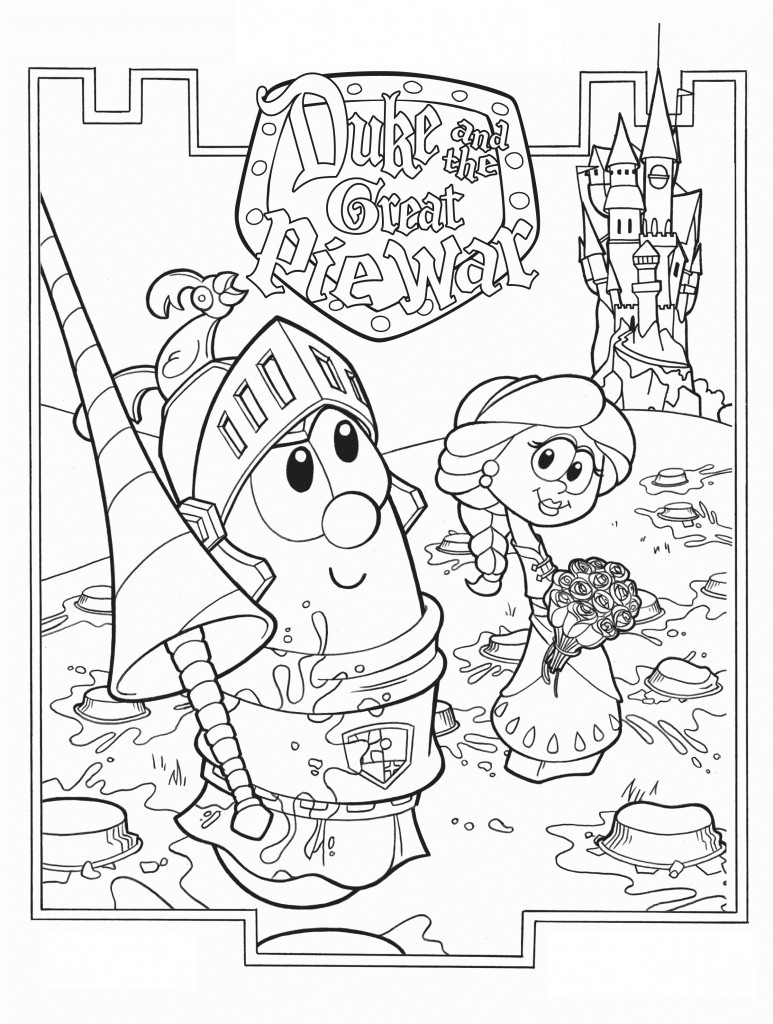 Printable Coloring Books For Toddlers  Free Printable Veggie Tales Coloring Pages For Kids