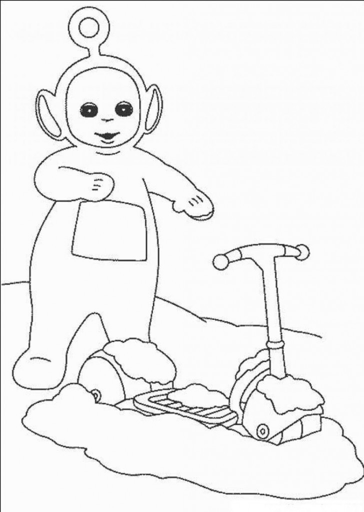 Printable Coloring Books For Toddlers  Free Printable Teletubbies Coloring Pages For Kids