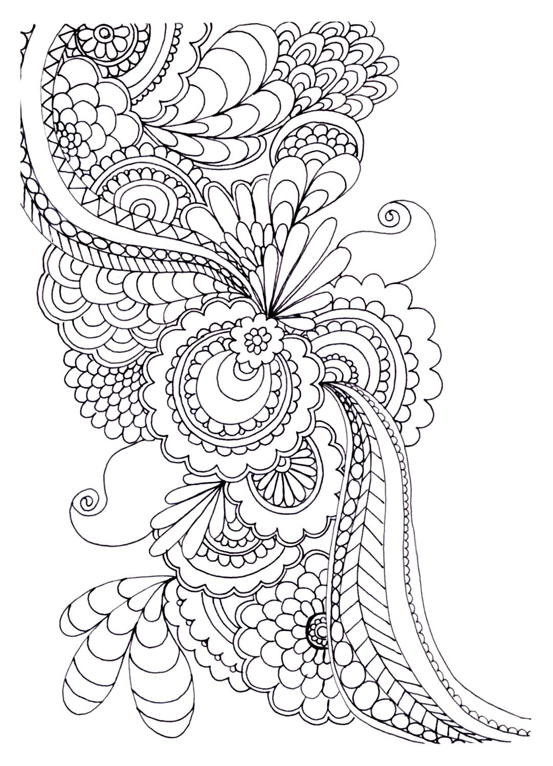 Printable Coloring Pages Adults Free  20 Free Adult Colouring Pages The Organised Housewife