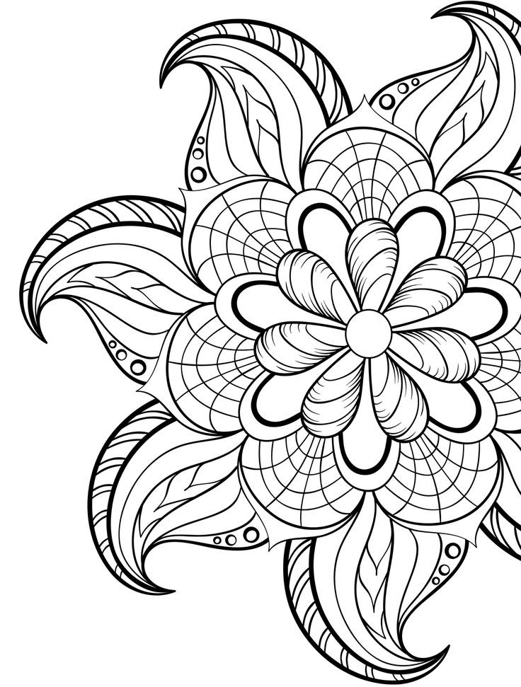 Printable Coloring Pages Adults Free  Free Printable Mandalas Coloring Pages Adults Printable