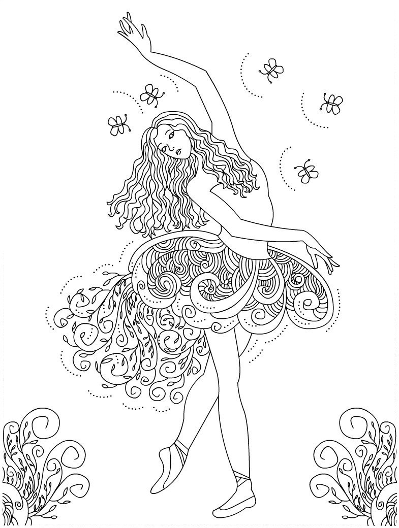 Printable Coloring Pages For Girls Dance  Free Printable Ballet Coloring Pages For Kids