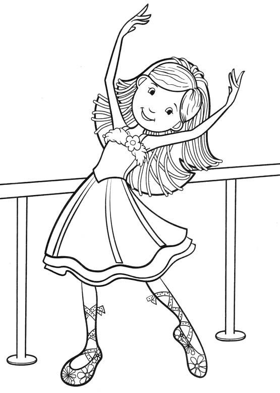 Printable Coloring Pages For Girls Dance  Groovy Girls Dancing Coloring Pages Groovy Girls