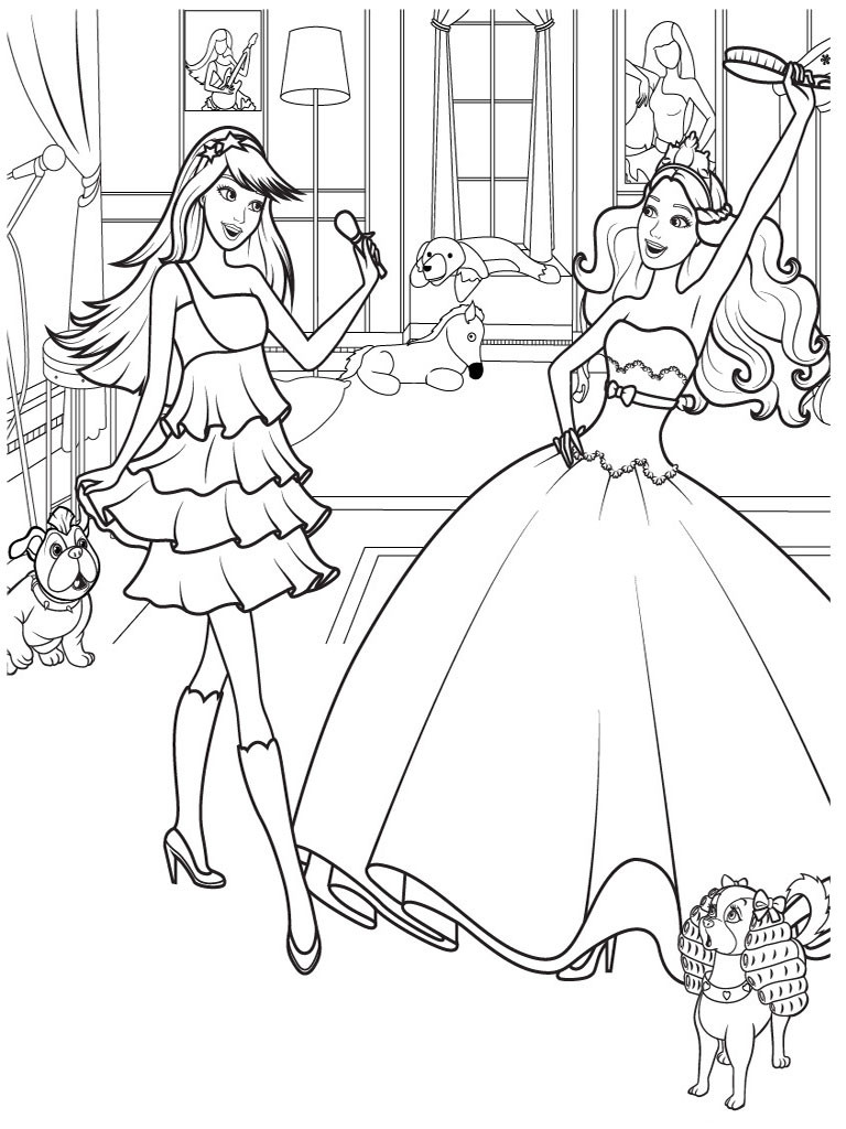 Printable Coloring Pages For Girls Dance  Barbie Coloring Pages For Girls