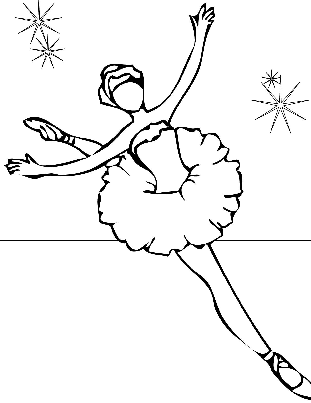 Printable Coloring Pages For Girls Dance  Ballerina Coloring Pages for childrens printable for free