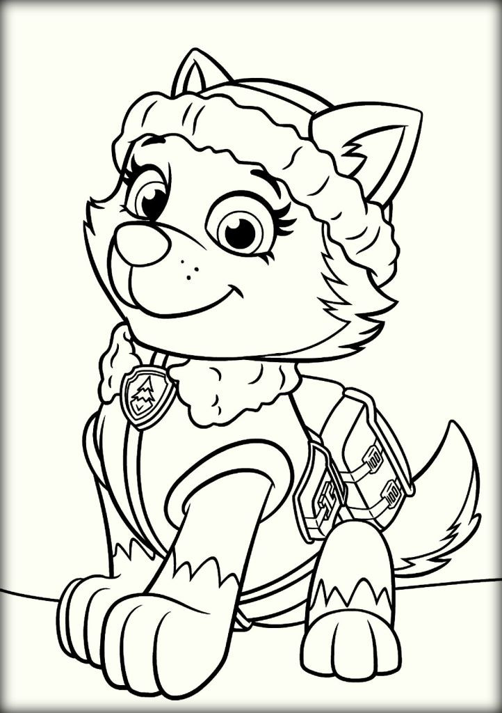Best ideas about Printable Coloring Pages For Girls Paw Patrol . Save or Pin Paw Patrol Coloring Pages Color Zini Now.