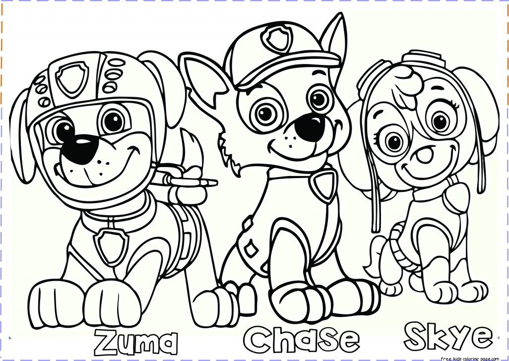 Best ideas about Printable Coloring Pages For Girls Paw Patrol . Save or Pin paw patrol coloring pages Free Printable Coloring Pages Now.